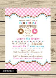 birthday brunch invitations girl birthday party brunch invitation donuts brunch by leeandloe