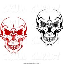 spooky clipart evil skulls