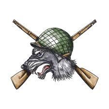 grey wolf ww2 helmet crossed rifles tattoo grey wolf ww2 helmet