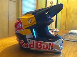 red bull motocross gear 2011 bell helmet m9 red bull painted lance coury
