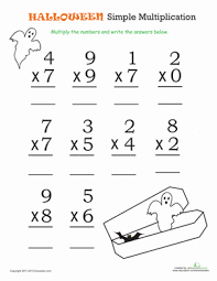 3rd grade halloween multiplication and division worksheets