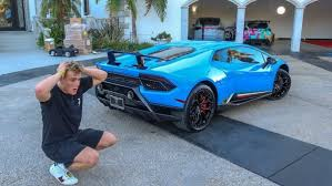 jake paul car jake paul s lamborghini huracan performante celebrity cars blog