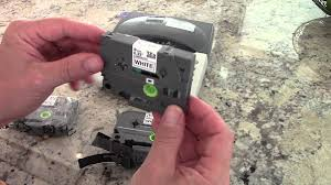 How To Install Brother P Touch Tape | brother tze tape tip youtube