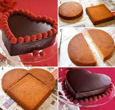 cake diy wonderful diy heart shaped cake for s day