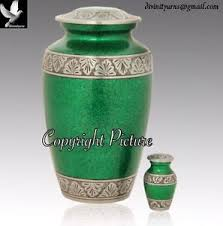 green cremation funeral urn majestic green cremation urn brass urn free