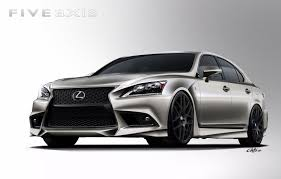 lexus sports car white 2013 lexus ls 460 f sport by five axis heads to sema show