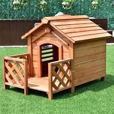 amazon com tangkula pet house wood outdoor dog house kennel