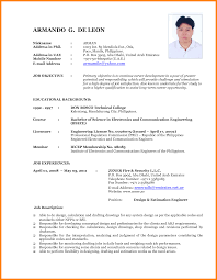 Resume Format For Freshers Mechanical Engineers Free Download New Resume Format Sample Latest Samples Doc For Experienced Job I