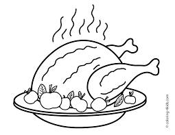 thanksgiving turkey coloring pages kids fried turkey