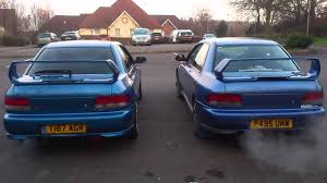 subaru impreza turbo subaru impreza type r vs turbo 2000 exhaust sound youtube