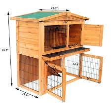6 Rabbit Hutch New A Frame Wood Wooden Rabbit Hutch Small Animal House Pet Cage