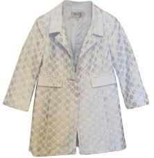 light blue trench coat worth light baby blue trench coat size 8 m tradesy