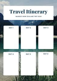 cream photo itinerary planner templates by canva