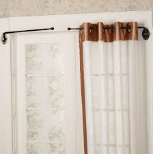 decorating cool black ceiling mounted curtain rods home depot