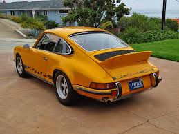 porsche signal yellow car inventory update 1973 porsche 911 rs touring historic