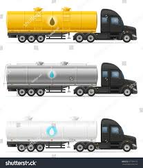 semi trailer truck truck semi trailer delivery transportation tank stock vector