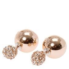 back stud earrings gold tone fireball front back stud earrings icing us