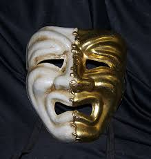 mardi gras mens mask masquerade mask comedy and tragedy mardi gras sad