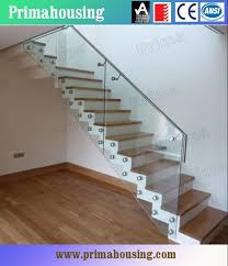 Glass Staircase Design Indoor Glass Stair Railings For Staircase Glass Railing Designs Pr