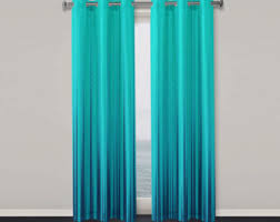 turquoise window curtains curtains wall decor