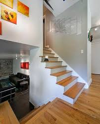 half staircase in split level home interior pinterest