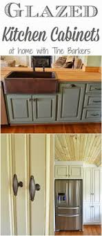 Painted Kitchen Cabinets At Home With The Barkers Kitchen - Kitchen cabinet glaze colors