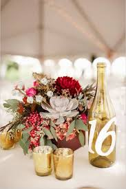gold wine bottle table numbers 43 vineyard wedding ideas to plan your winery reception table