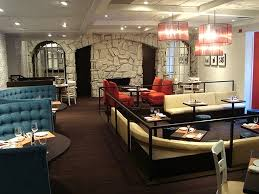 bar and dining area hospitality interior design of truva