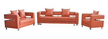 modern orange leather sofa rainbow foam factory