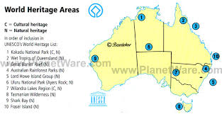 map of aus map of australia world heritage areas planetware
