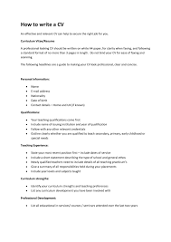 examples of resumes format to writing a cv latest 2016 in how