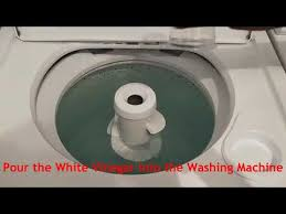 how to clean the washing machine with vinegar youtube