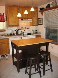 portable kitchen island with seating for 4 leather stools