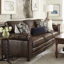 Large Brown Leather Sofa Living Room Brown Leather Furniture Sofas Decorating With Living