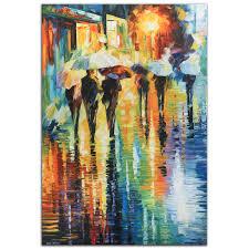colorful abstract cityscape u0027rainy etude u0027 contemporary city