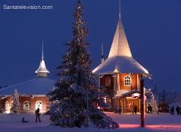 christmas house santa claus holiday village santa claus village