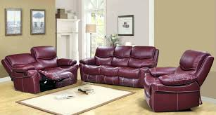 chaise lounges brown leather recliner sofa and loveseat red