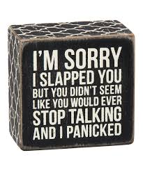 look what i found on zulily wood u0027i panicked u0027 box sign by