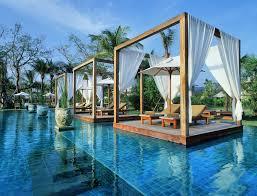 beautiful white glass wood modern design inside swimming pool cool