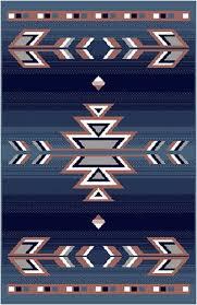 Area Rugs Southwestern Style Home Dynamix Premium Native American Southwestern Area Rug Blue 2