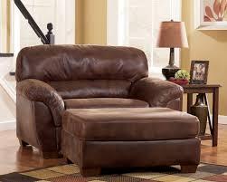Leather Armchair With Ottoman Ottoman Attractive Chair And Half With Ottoman Cedar Log Frame