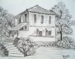simple pencil drawings of houses simple house u0026 landscape sketch