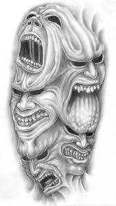 demon face drawing archives pencil drawing collection