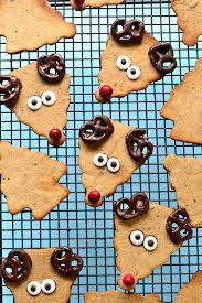 healthy reindeer cookies fork and beans