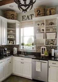 ideas for top of kitchen cabinets 62 best decorating above kitchen cabinets images on