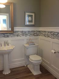 bathroom choices bald hairstyles wainscoting and batten