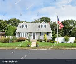 Cape Cod Style Home by Beautiful Cape Cod Style Home Residential Stock Photo 378920854