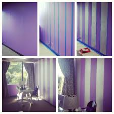 Purple Paint by Painting Stripes On A Wall Our Latest Office Update Bright
