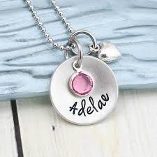 personalized kids jewelry girl s jewelry custom kids jewelry necklace