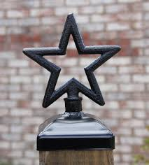 star fence post cap decorative star for 4x4 deck and fence post